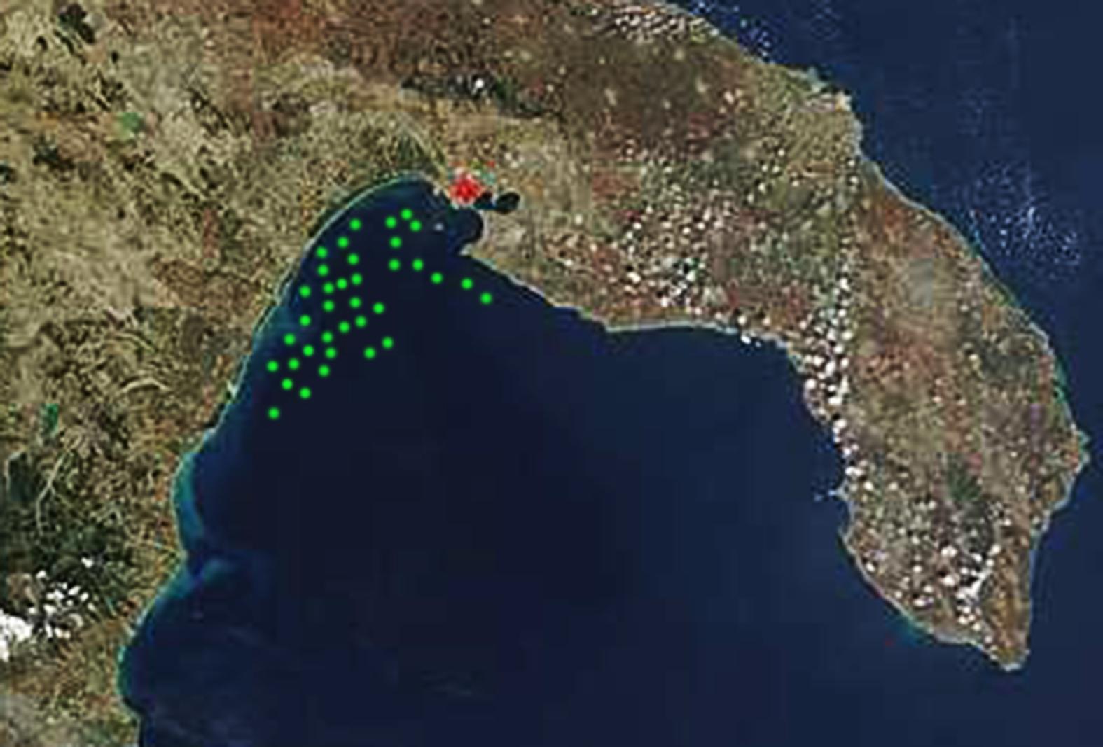 MappaGolfoTaranto Delfini