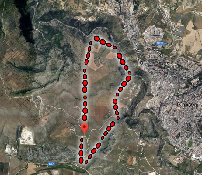 track hiking Matera