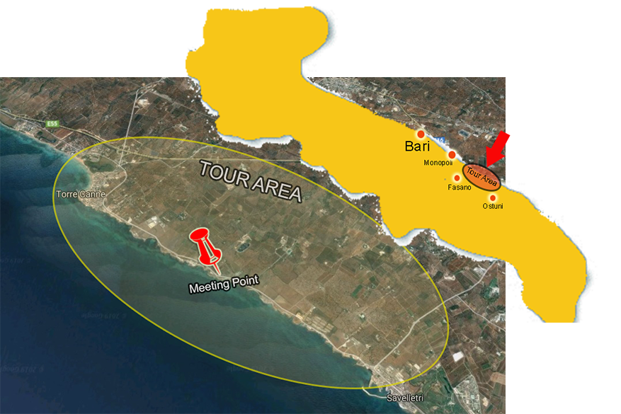 Apulian bike tours tasting and cycling map